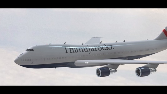 I will Place Your Logo On This Realistic Plane