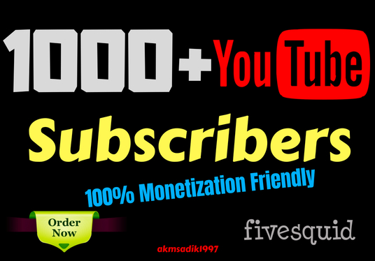 I will give you 670+ YouTube Subscribers with Monetization Guarantee