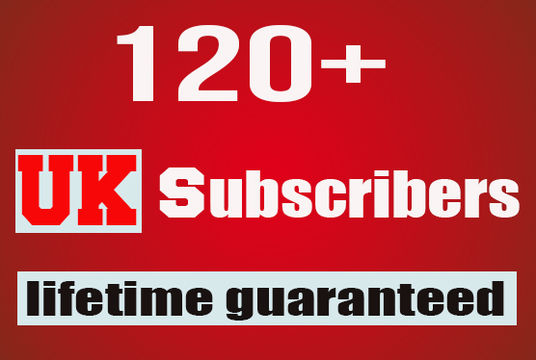 I will provide 120 UK youtube subscribers lifetime guaranteed