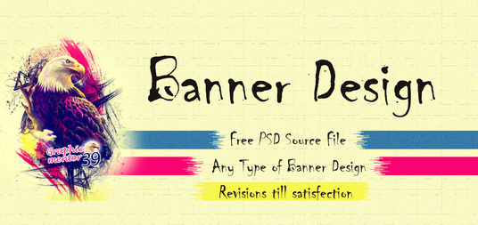 I will make outstanding high quality banners of  any type
