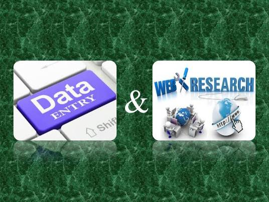 I will do Data entry and Web research job perfectly