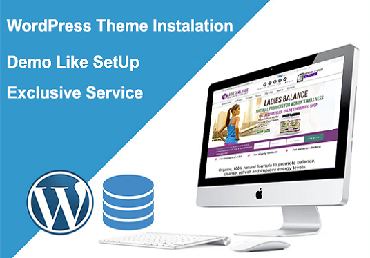 I will Install Wordpress Theme And Import Demo