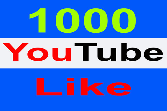 I will Add Super Fast 1000 ++YouTube  Like Only