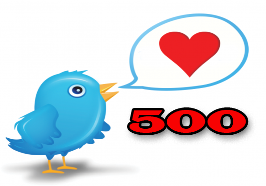 Provide you 500 twitter likes