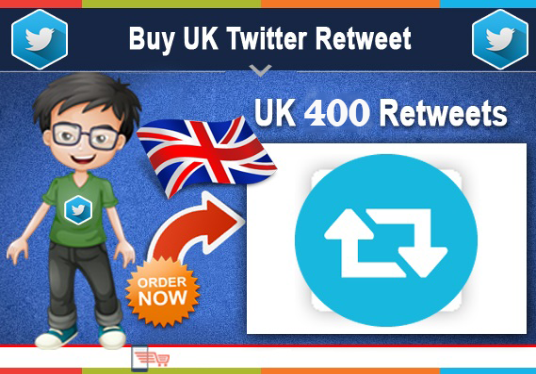 I will Provide you 400 twitter retweet from UK