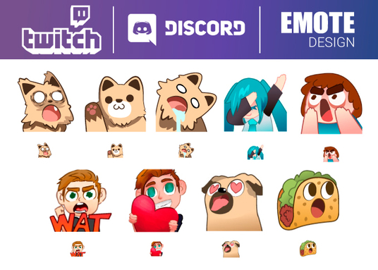 Create a Twitch and Discord Emotes For Your Subs for £10