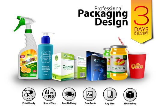 I will Do Professional Product Packaging Design