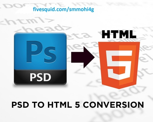 I will convert Psd to Html with responsive template