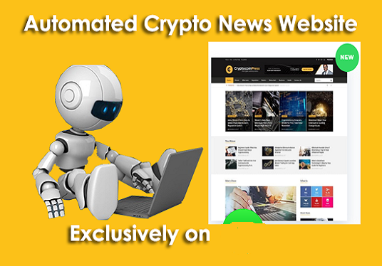 I will Create Fully Automated Crypto News Website On Autopilot