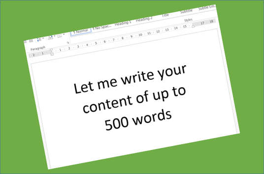 write an article or other content up to 500 words