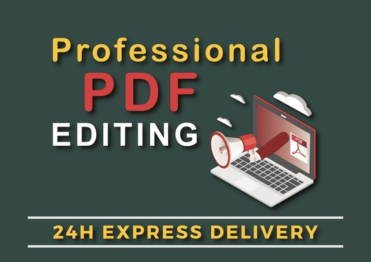 I will edit, merge, split or unlock pdf files