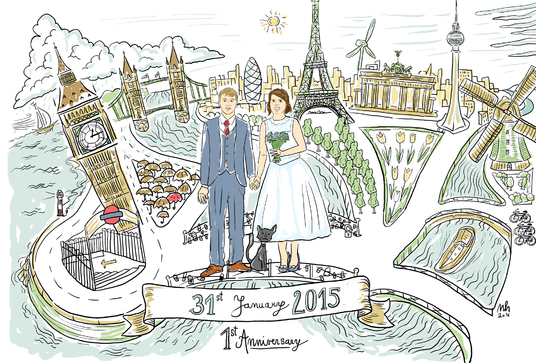I will draw a gift for Wedding, Anniversary or BD