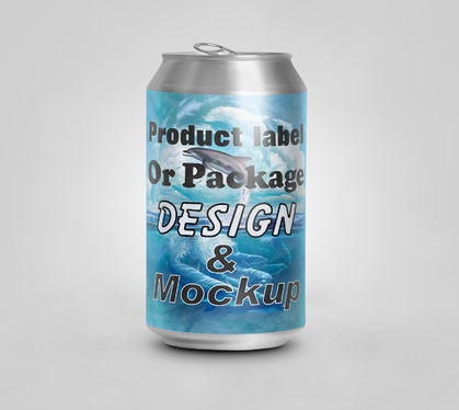 Design Your Product label Or Package With Mockup