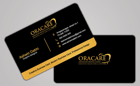 I will design clean business card 24hr