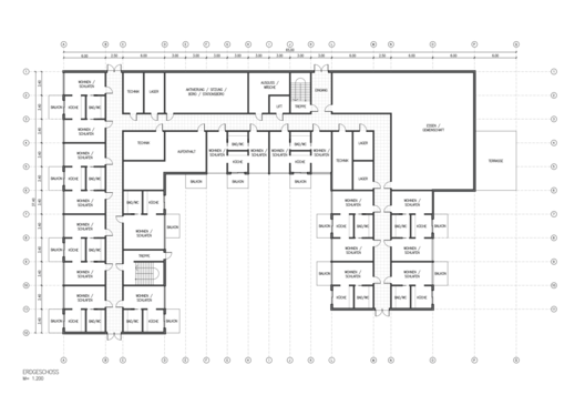 create an architectural floor plan