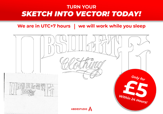 convert your logo or hand drwaing sketch into vector asap for 5