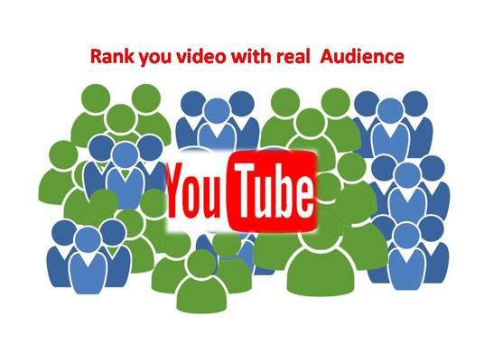 I will Rank Your Video  with real Audience