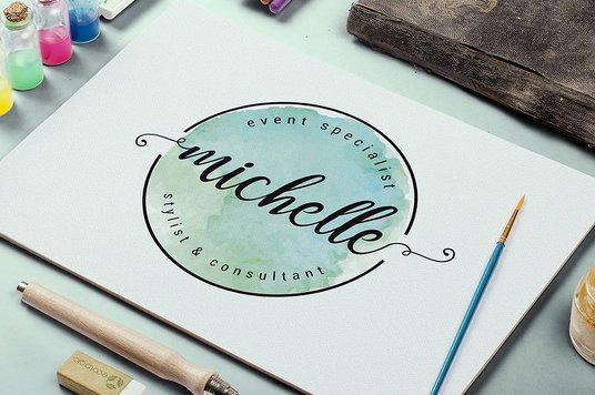 I will Design Elegant And Unique Feminine Or Watercolor Logo with all source files