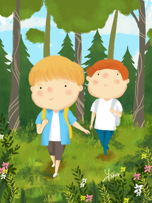 I will draw you children's book illustration in this style