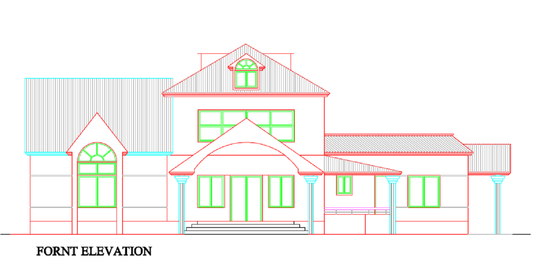 I will draw 2d elevation section and floor plan