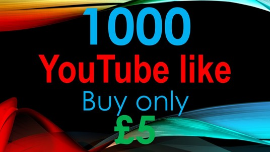 I will 1000 High-Quality Youtube video like