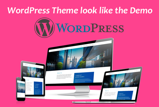 I will Make Your Wordpress Theme Look Like The Demo