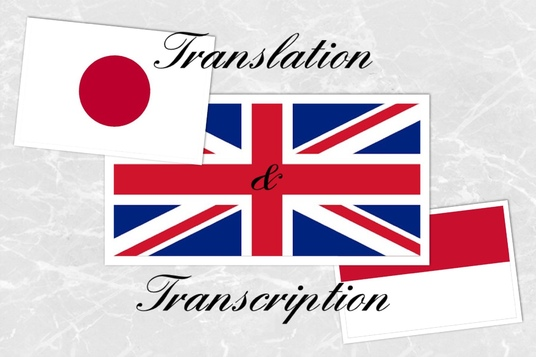 manually translate 500 Japanese characters to English or Indonesian