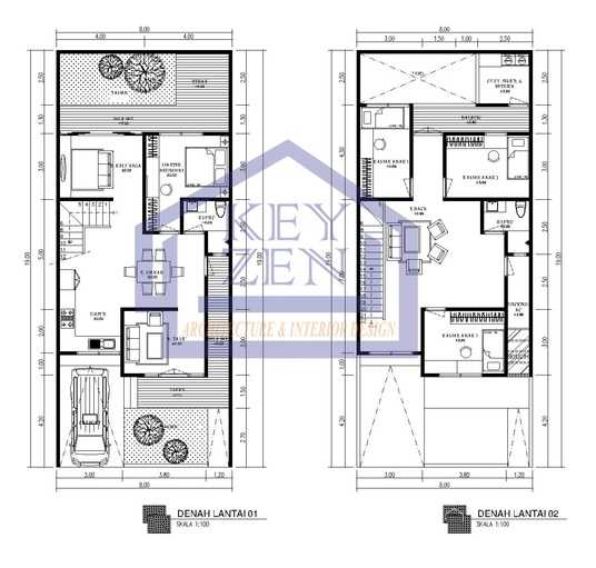 I will draw 2D floor plan architecture