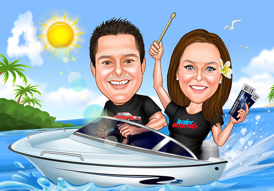 I will draw lovely couple caricature for you