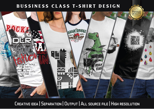 Create Awesome Business Class T Shirt Design