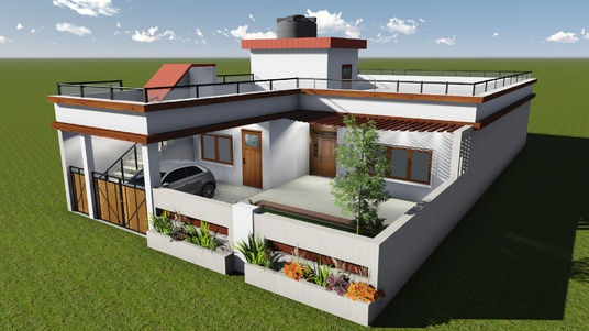 design and create autocad drawings, 3d model and rendered views