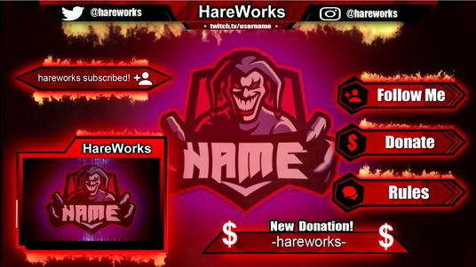 Make animated overlays for twitch in premium quality for £10