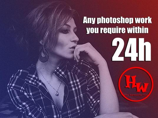 I will do any PHOTOSHOP job in 24h