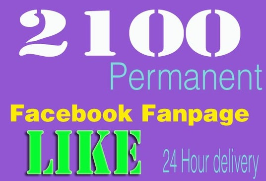 I will Give 2100 Permanent Facebook Like To Your Fanpage within 24 Hour