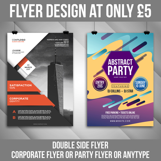I will design outstanding flyer with unlimited revision