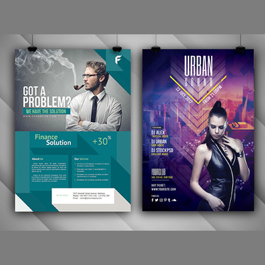 design outstanding flyer with unlimited revision