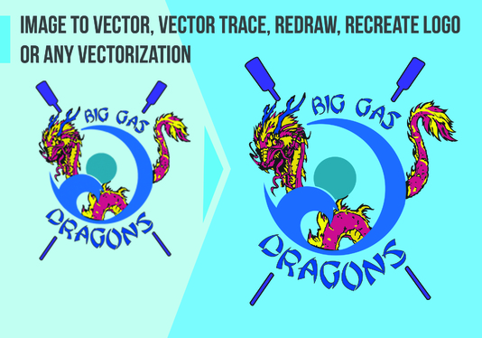 convert image to vector or recreate logo or vector trace