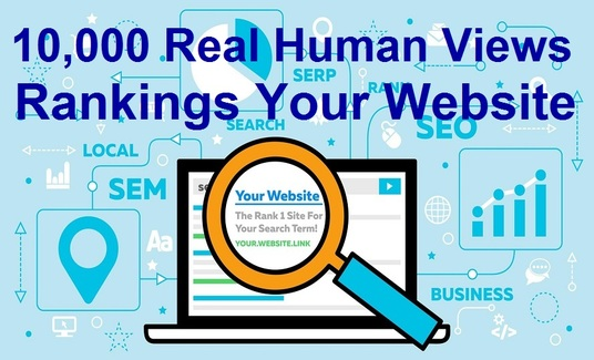 provide 10,000 real human views for your website rankings