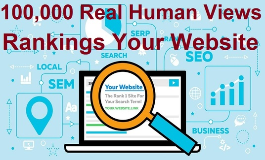 provide 10,000 real human views for your rankings your website