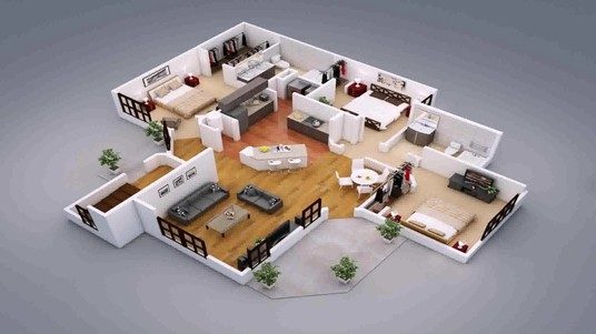 I will do a 2d or 3d floor plan, elevation and interior design of your dream house