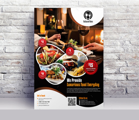 I will Design Restaurant Flyer or Menu