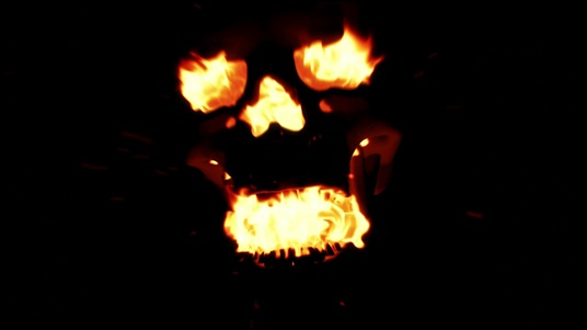 reveal your logo with a horror SKULL fire hell video intro