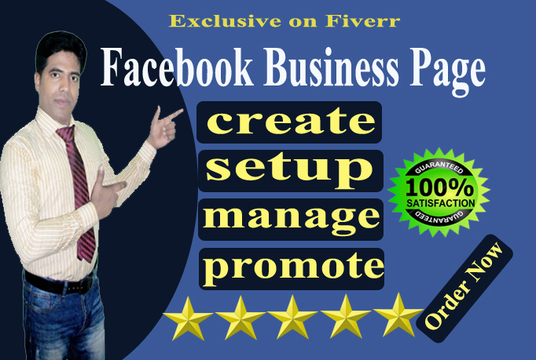 I will create manage and promote your Facebook business page