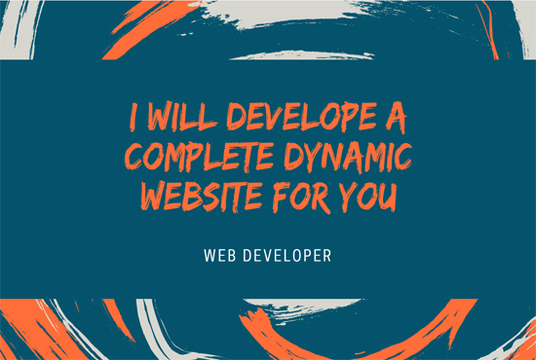 I will make a dynamic website for you