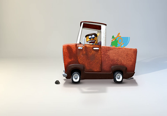 Make 3D Character Pick Up Your Logo In Truck