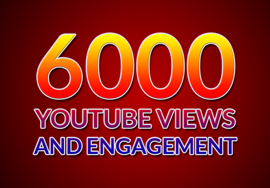 I will gives 6000 YouTube views and engagement