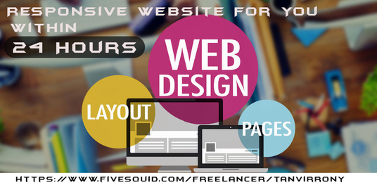 I will Create A Responsive Website For You Within 24 Hours