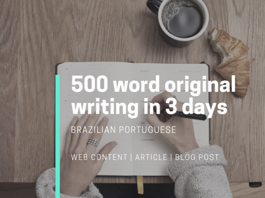 I will write articles and blog posts in Brazilian Portuguese