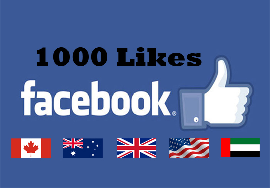 I will provide 1000 facebook likes from Real facebook user