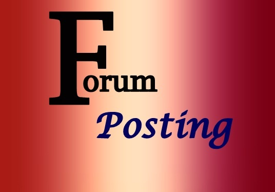 I will give 12 forum posting backlinks